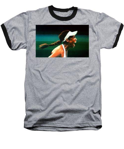 Venus Williams Baseball T-Shirt by Paul Meijering
