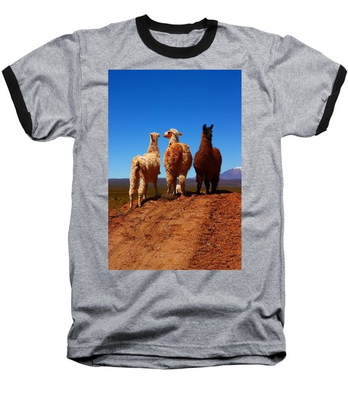 3 Amigos Baseball T-Shirt by FireFlux Studios