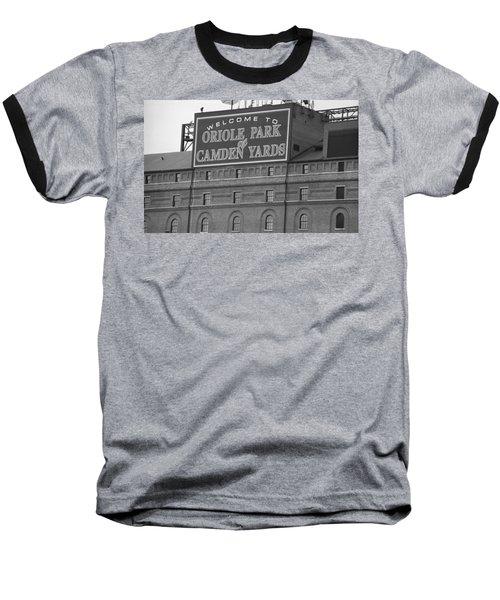 Baltimore Orioles Park At Camden Yards Baseball T-Shirt by Frank Romeo