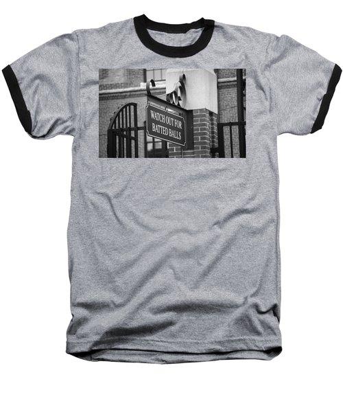 Baseball Warning Baseball T-Shirt by Frank Romeo