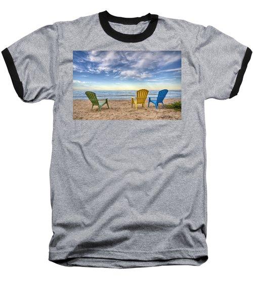 3 Chairs Baseball T-Shirt by Scott Norris