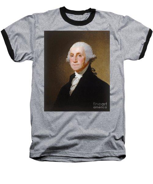 George Washington Baseball T-Shirt by Gilbert Stuart