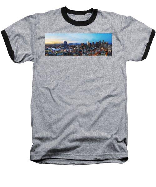 Los Angeles Skyline Baseball T-Shirt by Kelley King