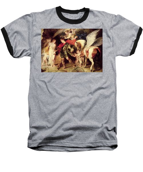 Perseus Liberating Andromeda Baseball T-Shirt by Peter Paul Rubens