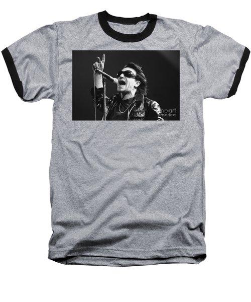U2 - Bono Baseball T-Shirt by Concert Photos