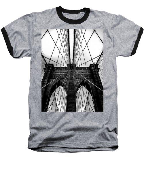 A Brooklyn Perspective Baseball T-Shirt by Az Jackson