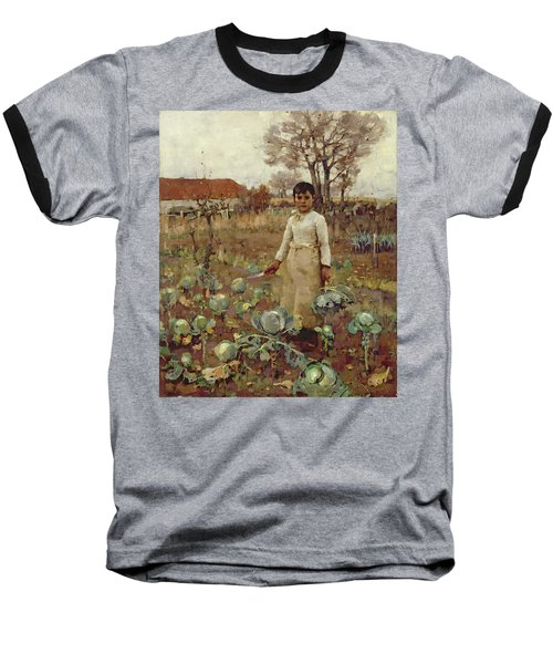 A Hinds Daughter, 1883 Oil On Canvas Baseball T-Shirt by Sir James Guthrie