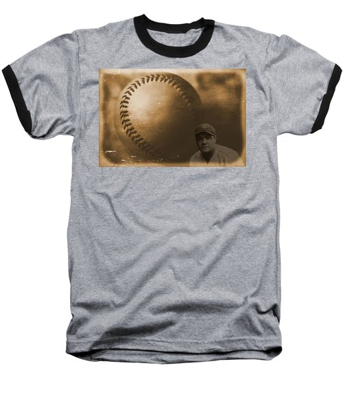 A Tribute To Babe Ruth And Baseball Baseball T-Shirt by Dan Sproul