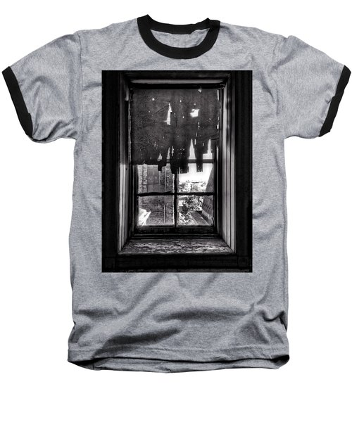 Abandoned Window Baseball T-Shirt by H James Hoff