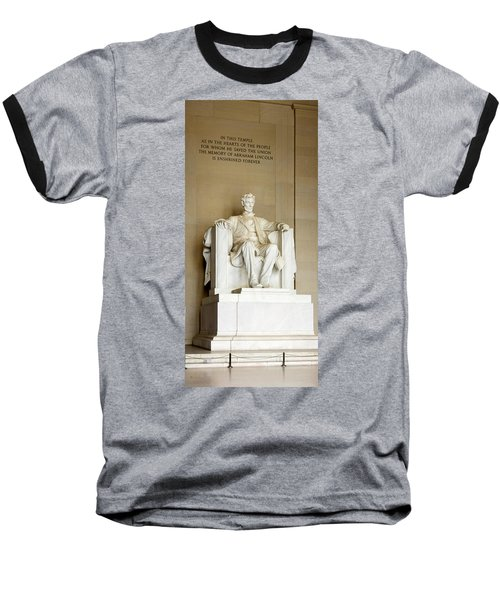 Abraham Lincolns Statue In A Memorial Baseball T-Shirt by Panoramic Images