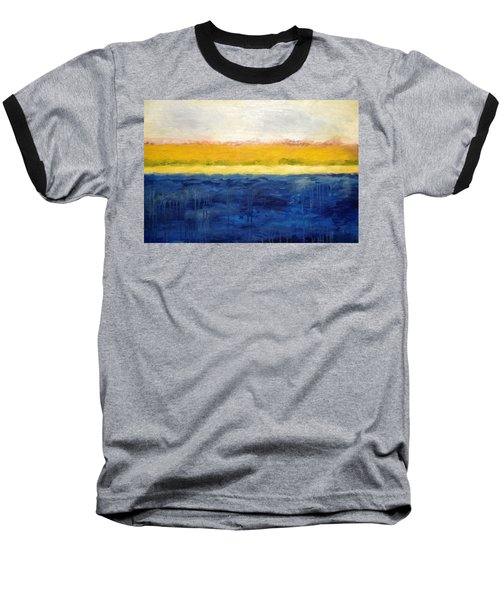 Abstract Dunes With Blue And Gold Baseball T-Shirt by Michelle Calkins