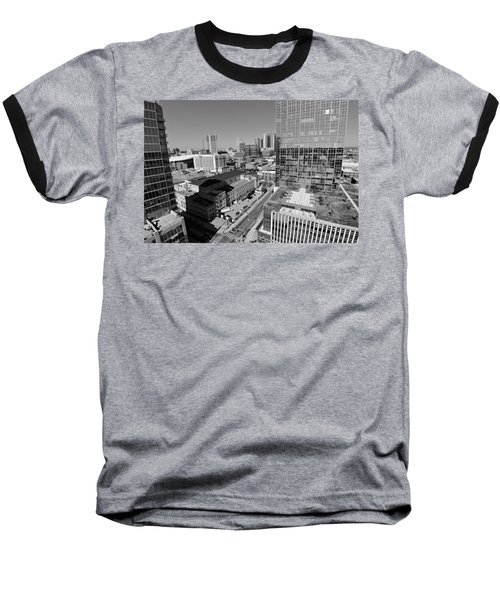 Aerial Photography Downtown Nashville Baseball T-Shirt by Dan Sproul