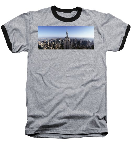 Aerial View Of A Cityscape, Empire Baseball T-Shirt by Panoramic Images