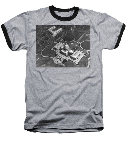 Aerial View Of U.s. Capitol Baseball T-Shirt by Underwood Archives