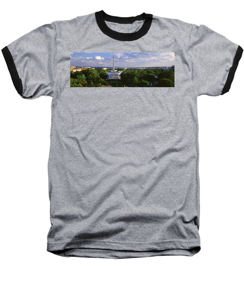 Aerial, White House, Washington Dc Baseball T-Shirt by Panoramic Images