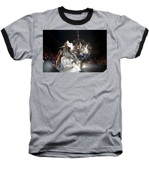 Aerosmith - On Stage 2012 Baseball T-Shirt by Epic Rights