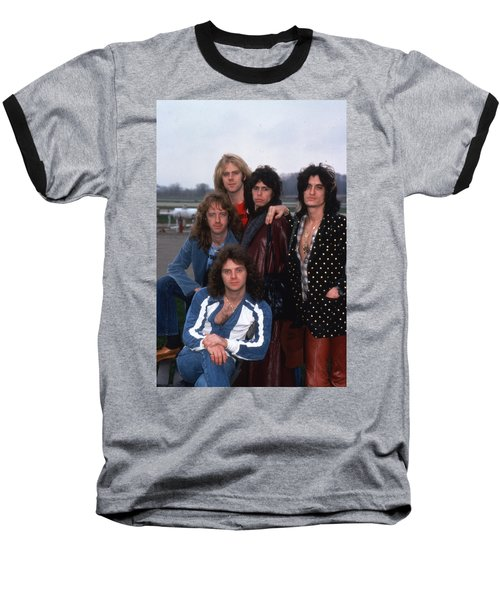 Aerosmith - Terre Haute 1977 Baseball T-Shirt by Epic Rights