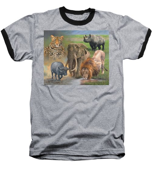 Africa's Big Five Baseball T-Shirt by David Stribbling