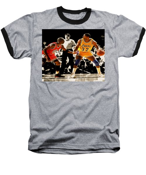 Air Jordan On Magic Baseball T-Shirt by Brian Reaves