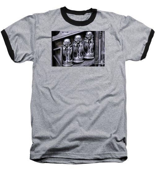 Alien Elton Baseball T-Shirt by Timothy Hacker