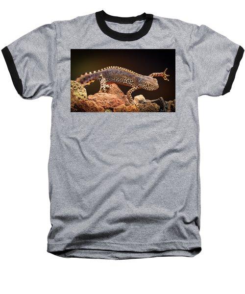 Alpine Newt Baseball T-Shirt by Dirk Ercken