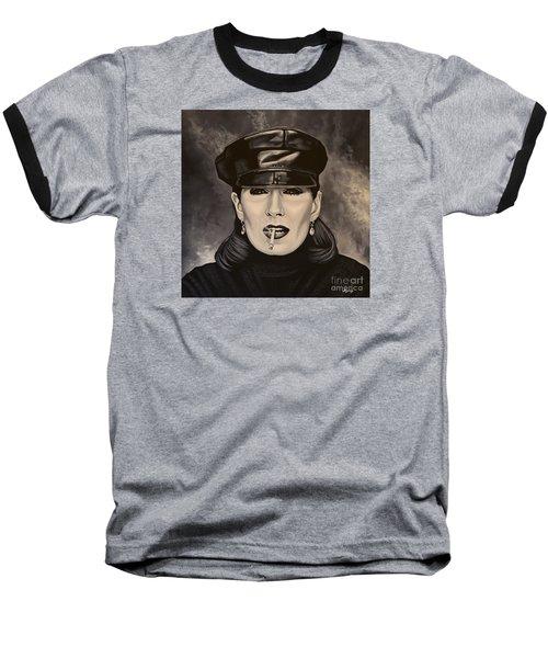 Anjelica Huston Baseball T-Shirt by Paul Meijering