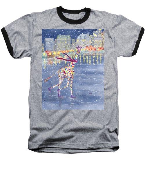 Annabelle On Ice Baseball T-Shirt by Rhonda Leonard