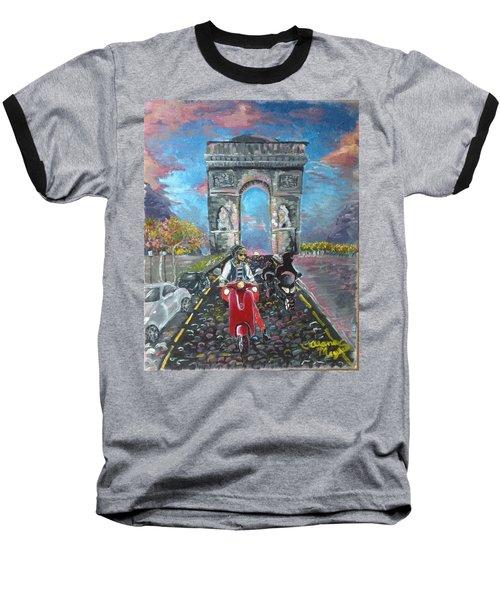 Arc De Triomphe Baseball T-Shirt by Alana Meyers