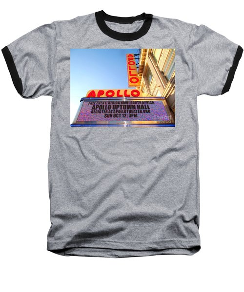 At The Apollo Baseball T-Shirt by Ed Weidman