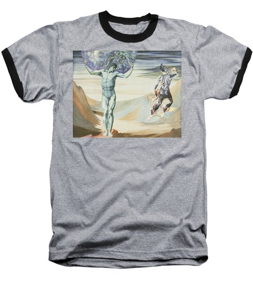 Atlas Turned To Stone, C.1876 Baseball T-Shirt by Sir Edward Coley Burne-Jones
