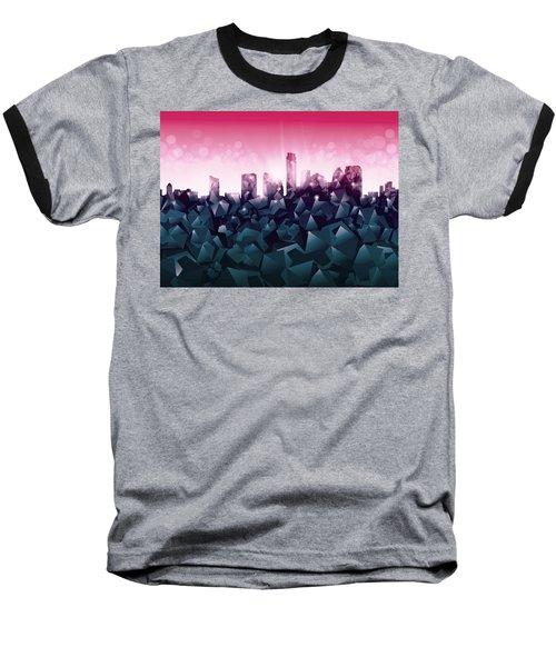 Austin Skyline Geometry 2 Baseball T-Shirt by Bekim Art