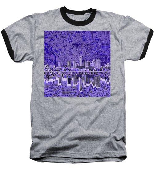 Austin Texas Skyline 4 Baseball T-Shirt by Bekim Art