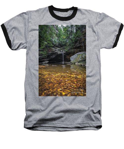 Autumn Falls Baseball T-Shirt by James Dean