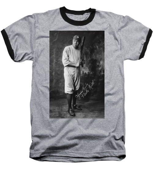 Babe 'the Sultan Of Swat' Ruth  1920 Baseball T-Shirt by Daniel Hagerman