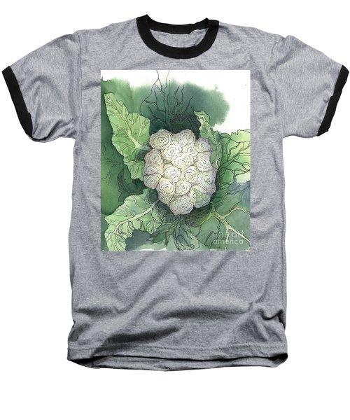Baby Cauliflower Baseball T-Shirt by Maria Hunt