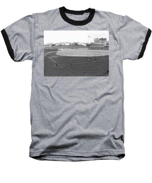 Baseball At Yankee Stadium Baseball T-Shirt by Underwood Archives