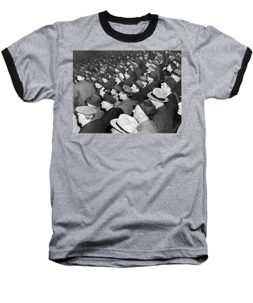 Baseball Fans At Yankee Stadium For The Third Game Of The World Baseball T-Shirt by Underwood Archives