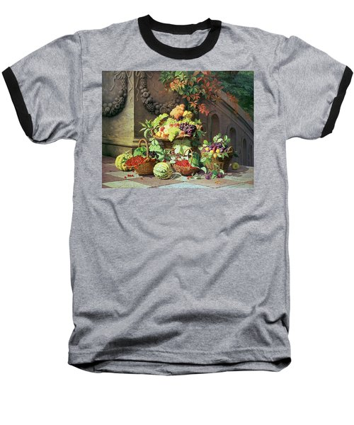 Baskets Of Summer Fruits Baseball T-Shirt by William Hammer