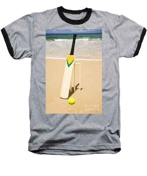 Bat Ball And Stumps Baseball T-Shirt by Jorgo Photography - Wall Art Gallery