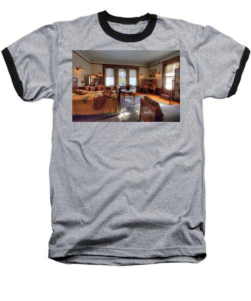 Bedroom Glensheen Mansion Duluth Baseball T-Shirt by Amanda Stadther