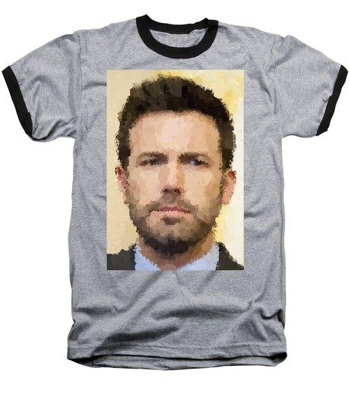 Ben Affleck Portrait Baseball T-Shirt by Samuel Majcen