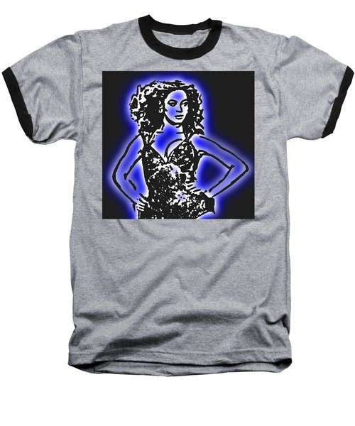 Beyonce Radiant And Glowing Baseball T-Shirt by Tommy Midyette