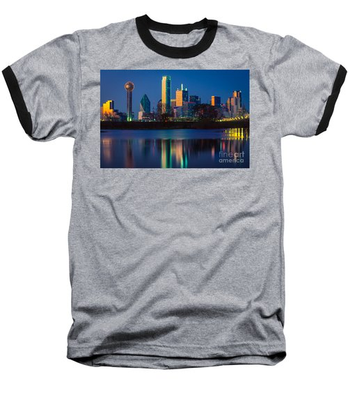 Big D Reflection Baseball T-Shirt by Inge Johnsson