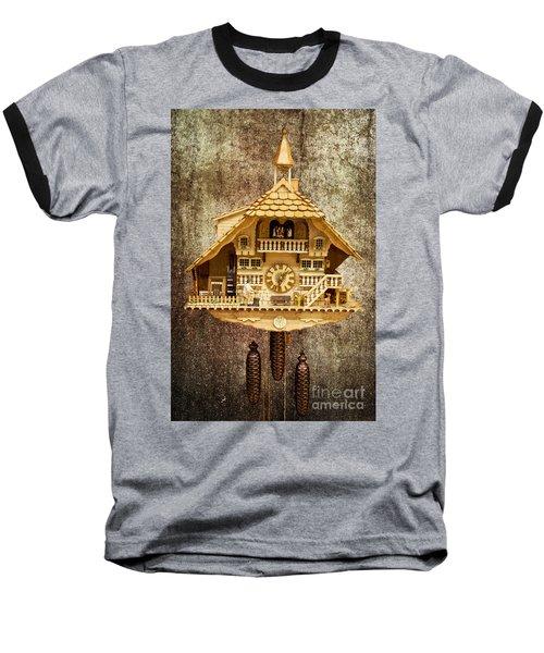 Black Forest Figurine Clock Baseball T-Shirt by Heiko Koehrer-Wagner