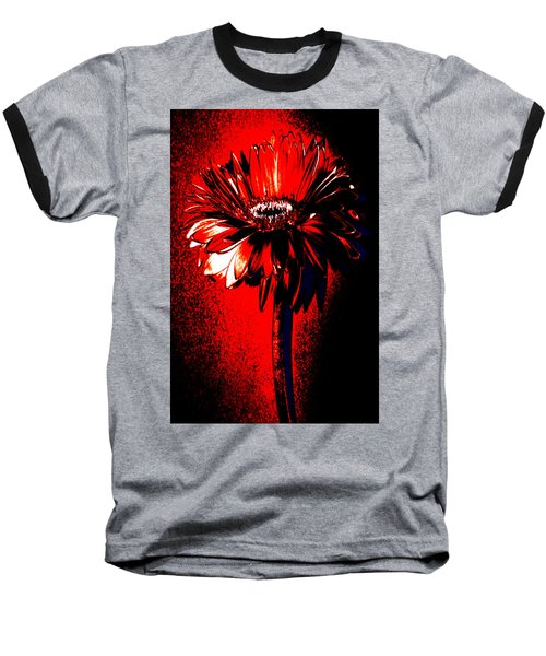 Bloody Mary Zinnia Baseball T-Shirt by Sherry Allen