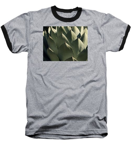 Blue Aloe Baseball T-Shirt by Ellen Henneke