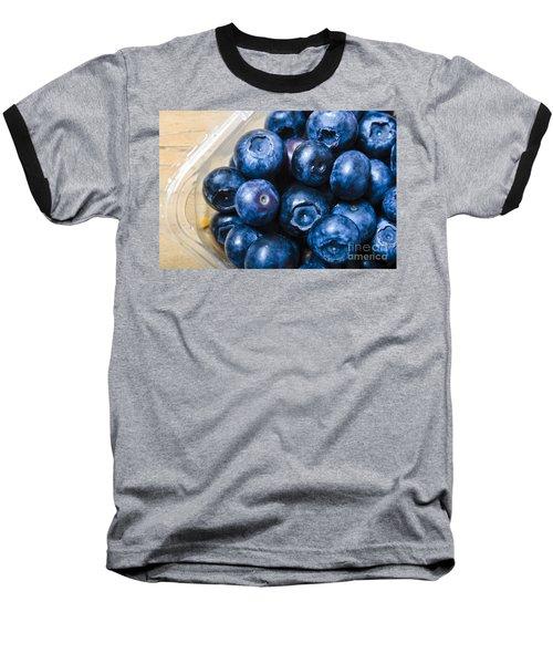 Blueberries Punnet Baseball T-Shirt by Jorgo Photography - Wall Art Gallery