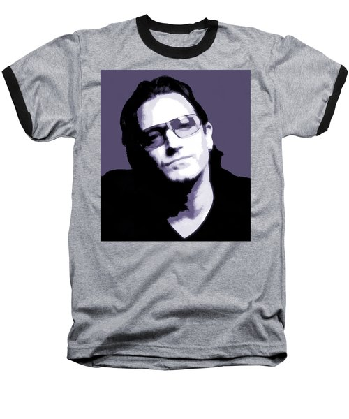 Bono Portrait Baseball T-Shirt by Dan Sproul