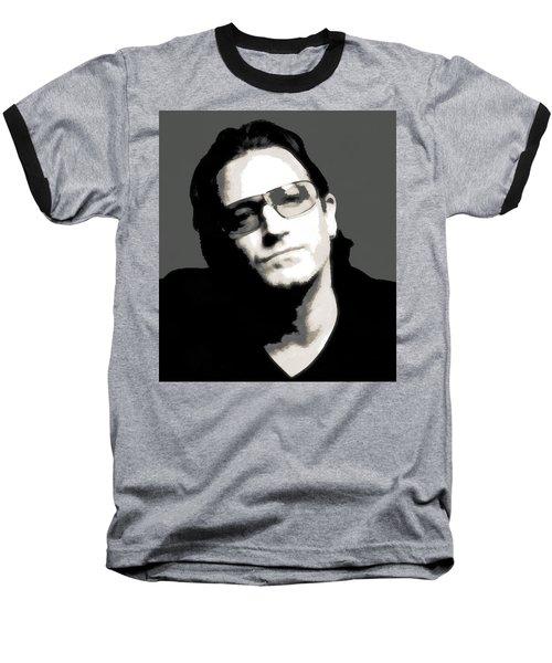 Bono Poster Baseball T-Shirt by Dan Sproul
