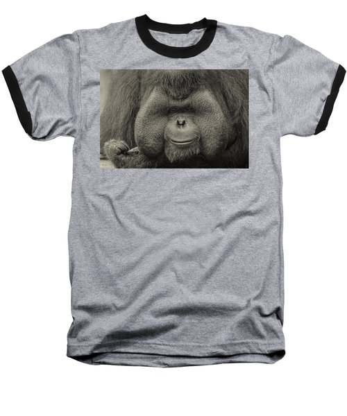 Bornean Orangutan II Baseball T-Shirt by Lourry Legarde